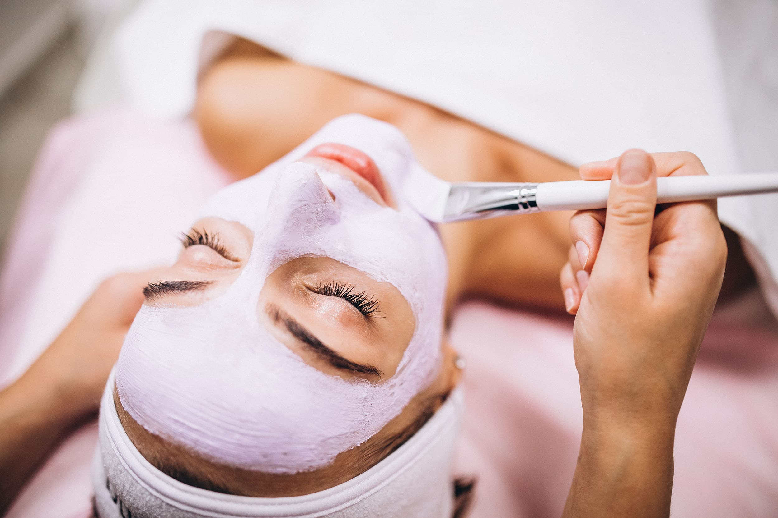 Best Skin Care Salon in Dehradun - Client getting facial & waxing