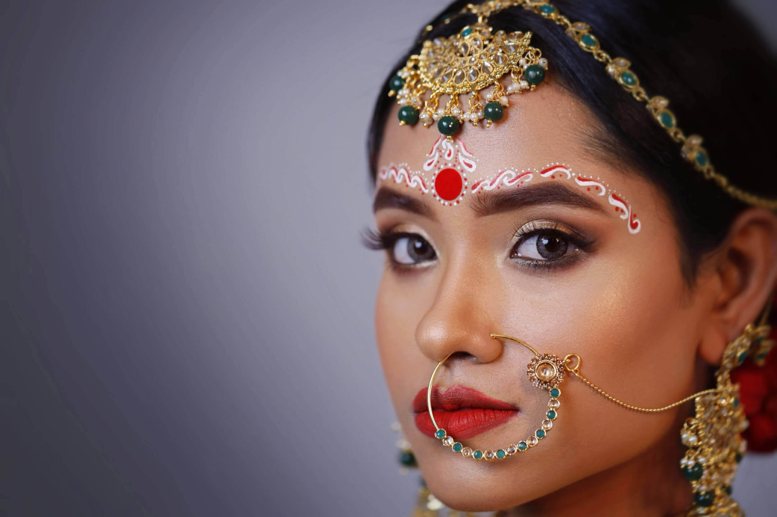 Best Bridal Makup Salon in Dehradun - Bride Showing her Face Closeup