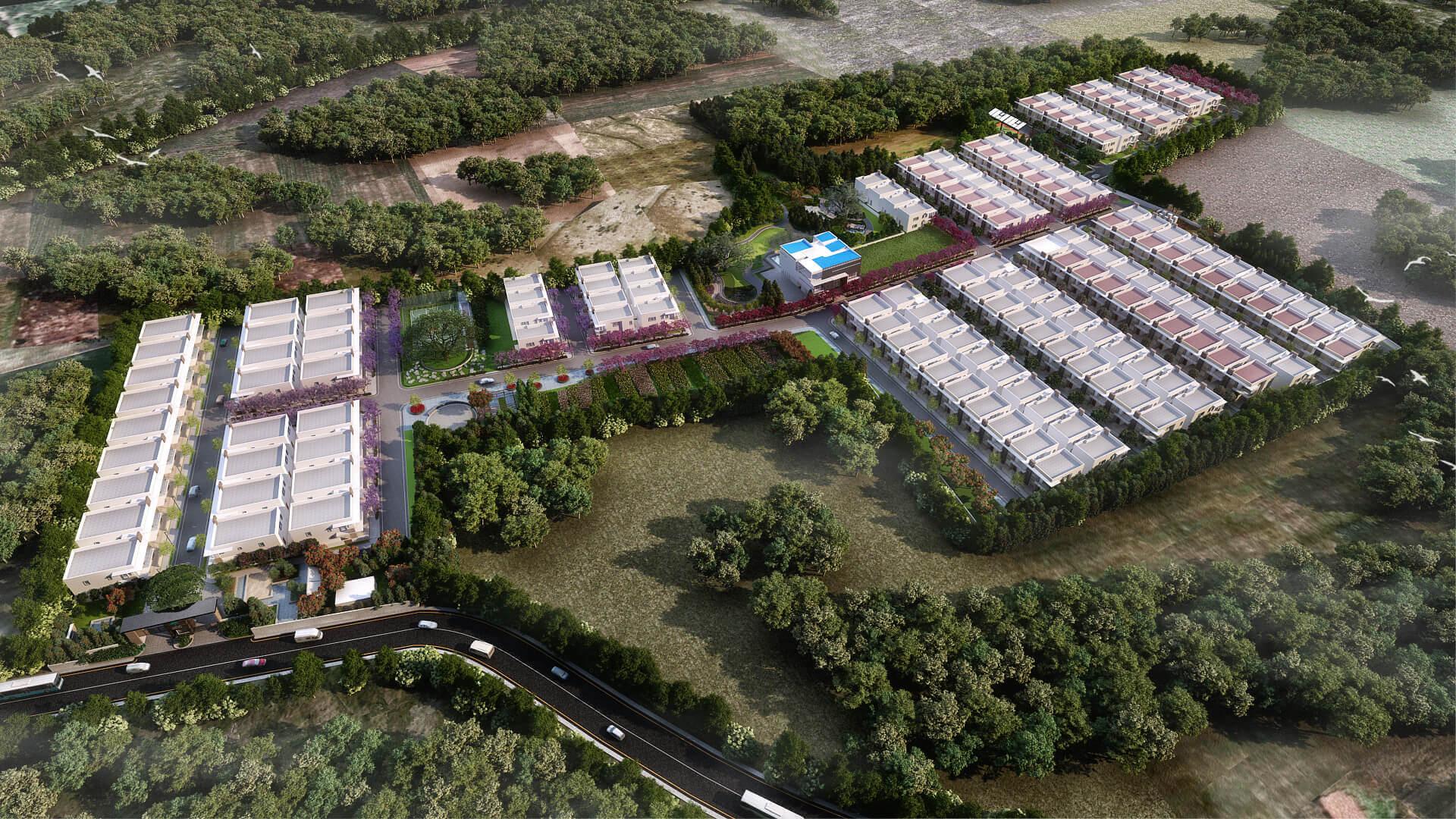 Kumari Oakville Villas on Sarjapur Road Bangalore Masterplan