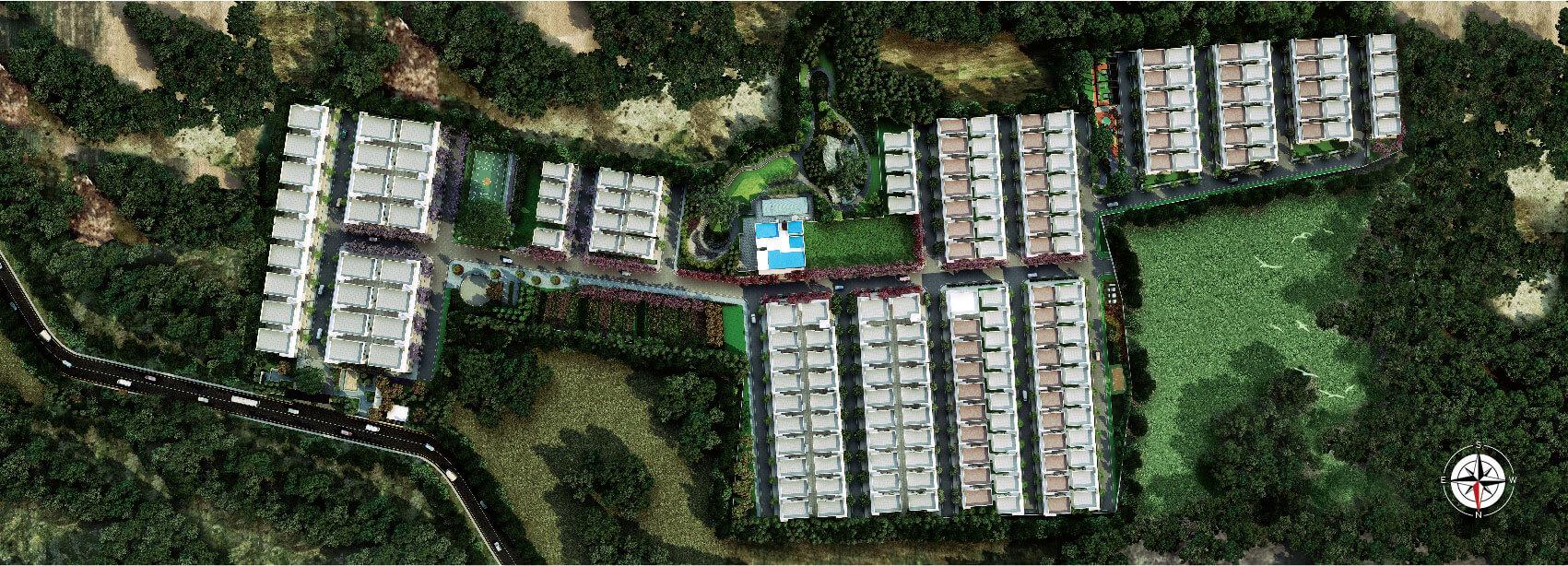 Kumari Oakville Villas in Sarjapur Road Bangalore Masterplan Banner
